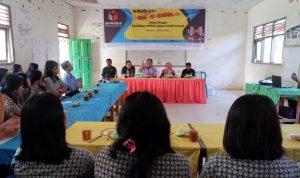 Suasana kegiatan Bawaslu go to school yang digelar Bawaslu Kabupaten Mamasa di SMA Nusa Bangsa Lakahang.